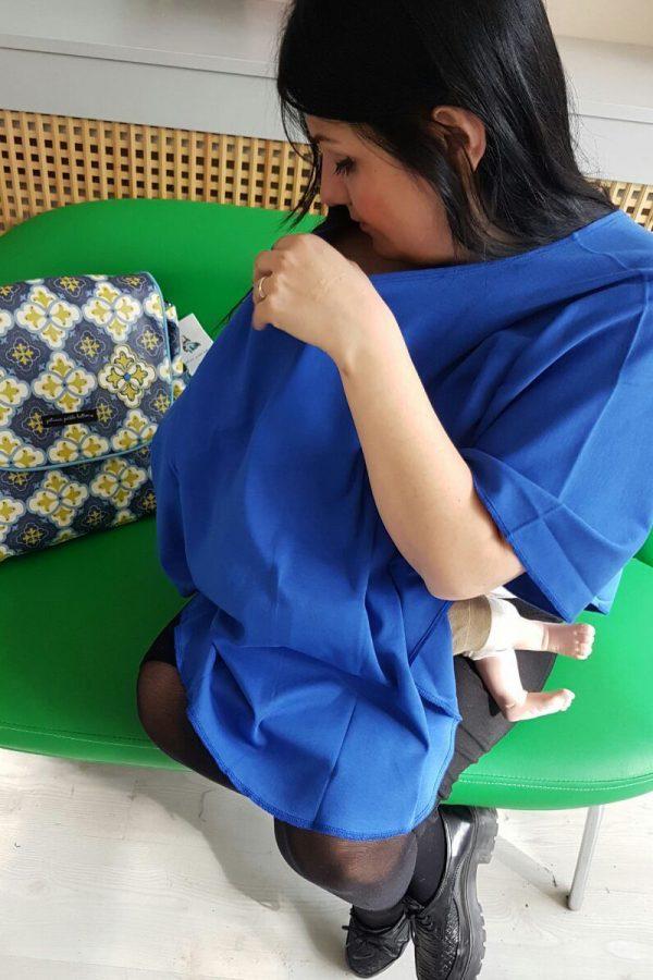 Çok Amaçlı Emzirme Örtüsü – İndigo Mavisi